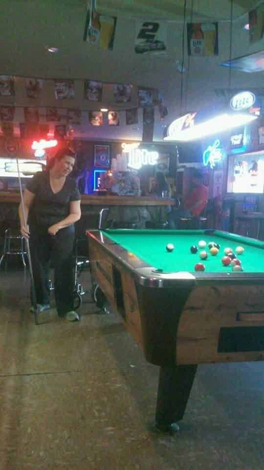Laura plays pool again!